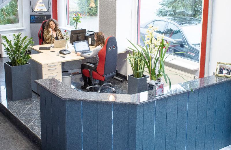 Das Büro der Firma Bezold